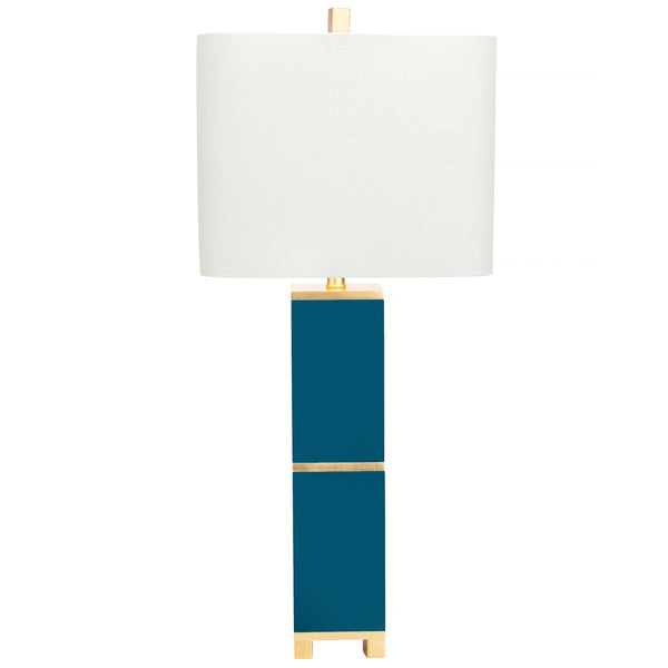 Jacques Table Lamp in Peacock by Couture