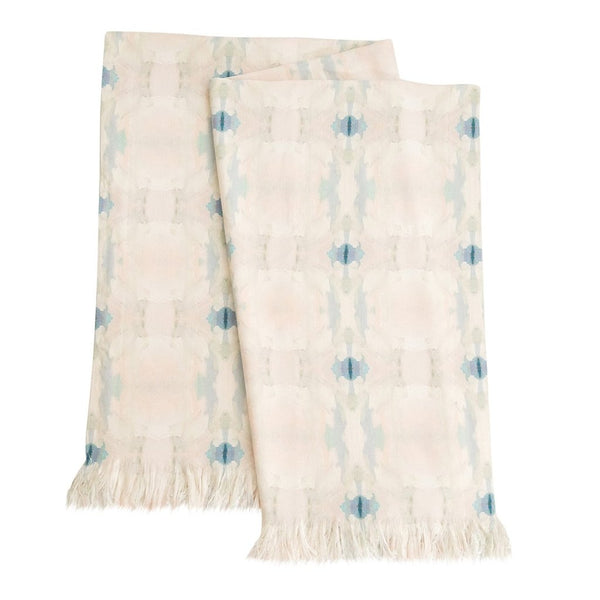 Coral Bay Pale Blue Throw Blanket by Laura Park