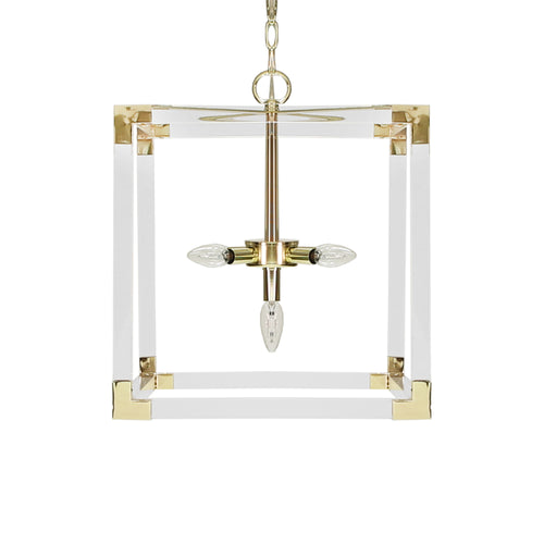 Worlds Away Eli Acrylic Pendant Light
