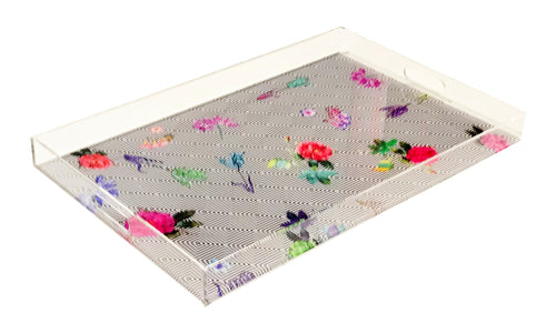 Nicolette Mayer Florals At Their Feet Acrylic Tray