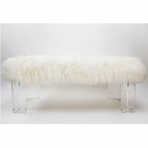 Fluff Arched Acrylic Bench by Jamie Dietrich Designs