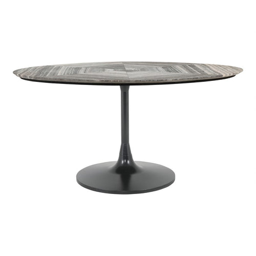 Moes Nyles Oval Marble Dining Table