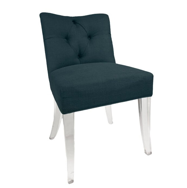 Jamie Dietrich Grace Side Chair in Green Velvet