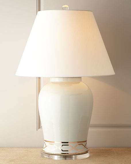Scalamandre Maison by Port 68 Pavillion White Lamp