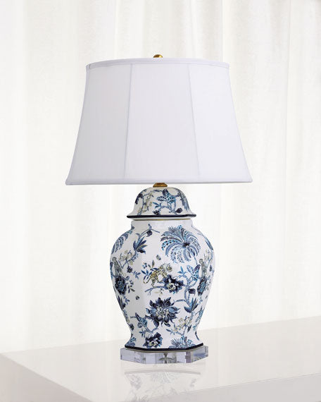 Williamsburg Braganza Blue Hex Lamp