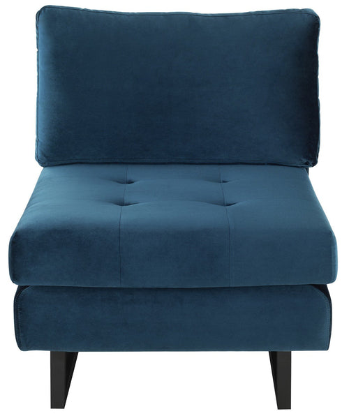 Nuevo Janis Midnight Blue Seat Armless Sofa