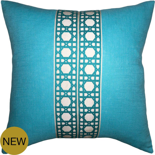 Hearst Turquoise Pillow by Square Feathers