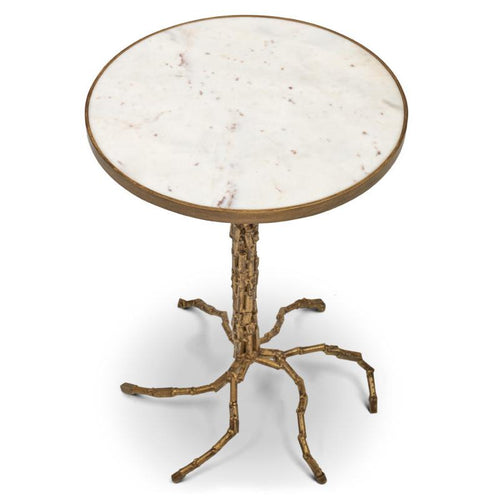 Urbia Isabella End Table, Antique Brass