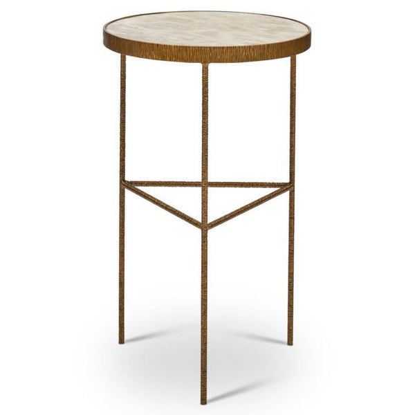 Urbia Sophia End Table, Antique Brass