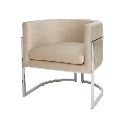 Worlds Away Jenna Velvet Chair