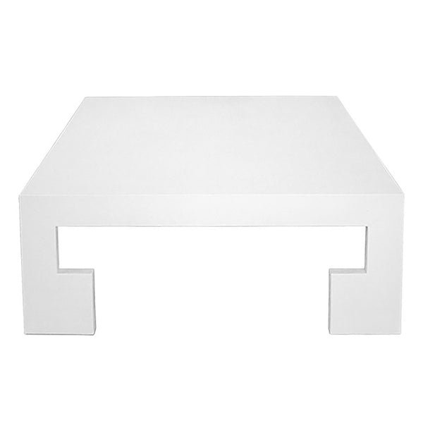 Worlds Away Kaplan Coffee Table White Linen