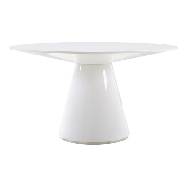 Moes Otago Dining Table 54 In Round White
