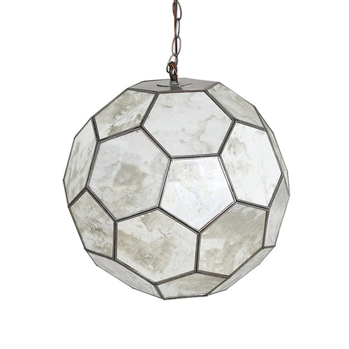Worlds Away Knox Antique Mirror Pendant Light, 15""