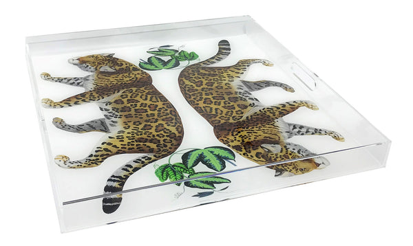 Nicolette Mayer Seeing Double Leopard Acrylic Tray
