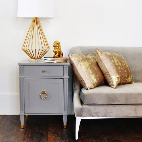 Worlds Away Lily Side Table