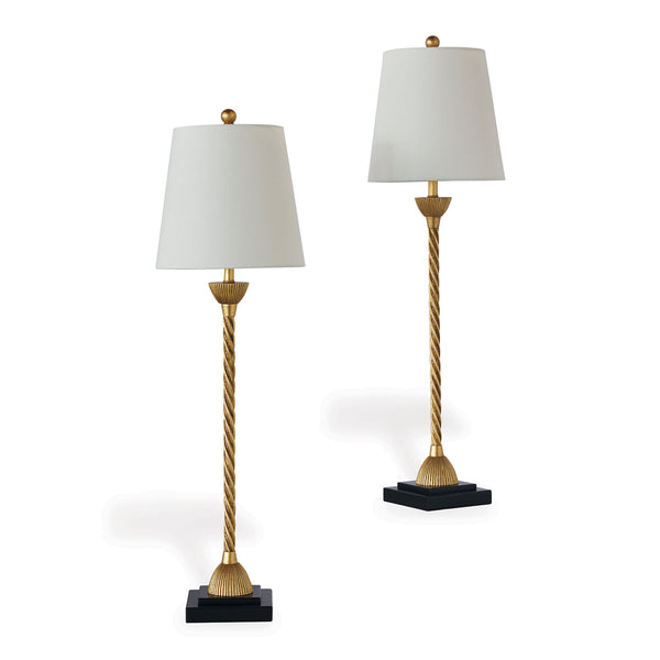 Port 68 Delfern Gold Buffet Lamps, Set of 2