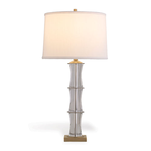 Port 68 Rivoli Crystal and Brass Lamp