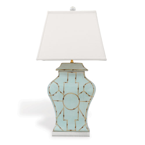 Scalamandre Baldwin Table Lamp by Port 68 in Blue