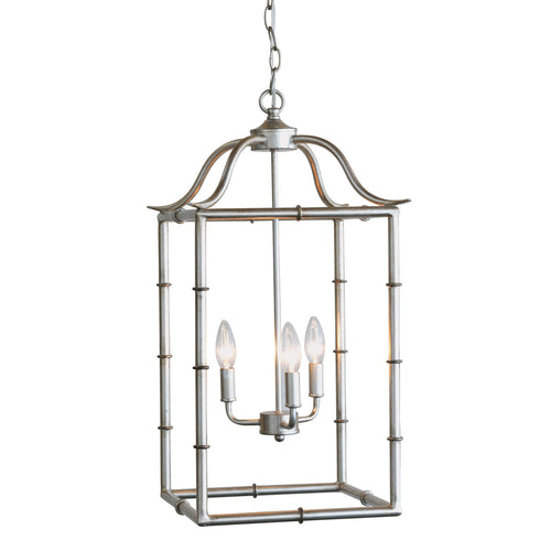 Doheny 3-Light Pendant in Silver by Port 68