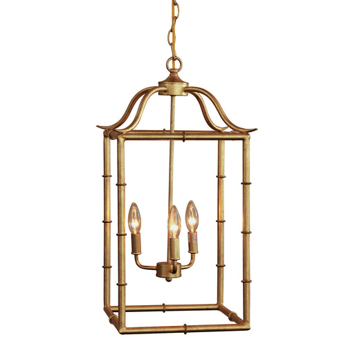 Doheny 3-Light Pendant in Gold Leaf by Port 68