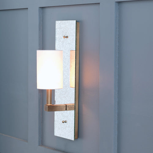 "Port 68 Sawyer Aged Mirror Sconce 14""H"