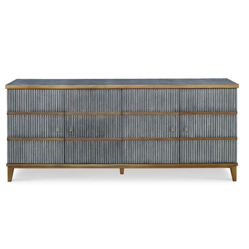 Ludwig Low 4 Door Cabinet by Mr Brown London , Storm Shagreen
