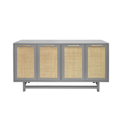 Worlds Away Macon Cabinet in Gray