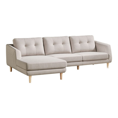 Moes Corey Sectional Beige Left