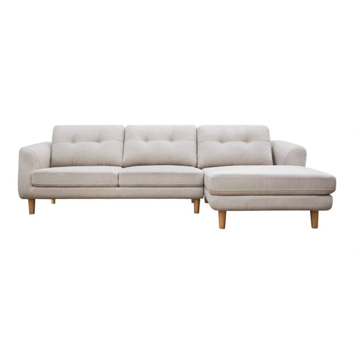 Moes Corey Sectional Beige Right