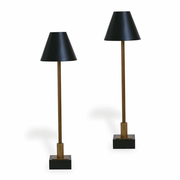 Port 68 Marais Brass Buffet Lamps, Set of Two