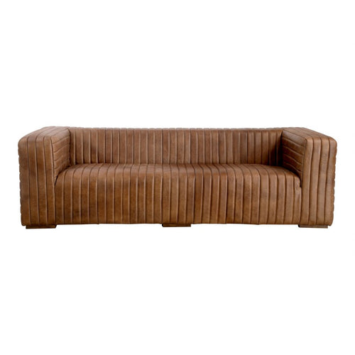 Moes Castle Sofa Cappuccino, Brown
