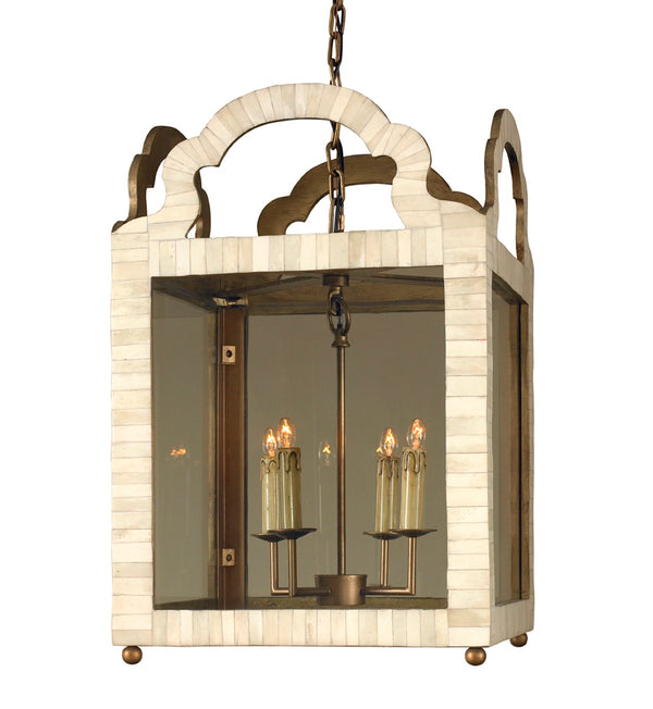 Mr Brown London Paris Lantern Chandelier in Bone
