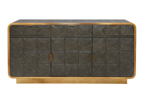 Prades Low Cabinet in Shagreen by Mr Brown London