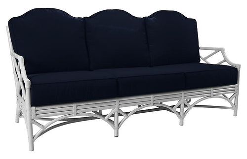 Chippendale Outdoor Sofa with Navy Sunbrella Cushions by David Francis