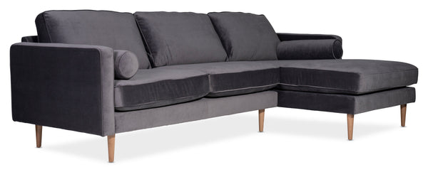 Moes Unwind Sectional Smoky Right