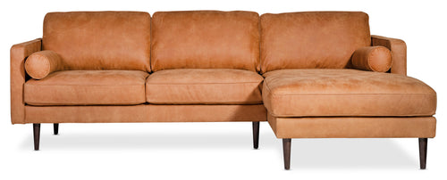 Moes Unwind Sectional Gingersnap Right