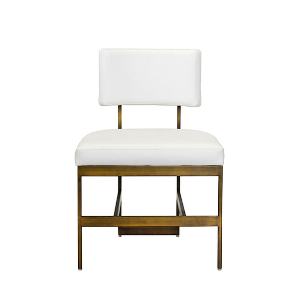 Worlds Away Shaw Dining Chair, White