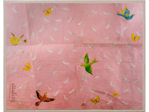 Paule Marrot Pink Feathers Art