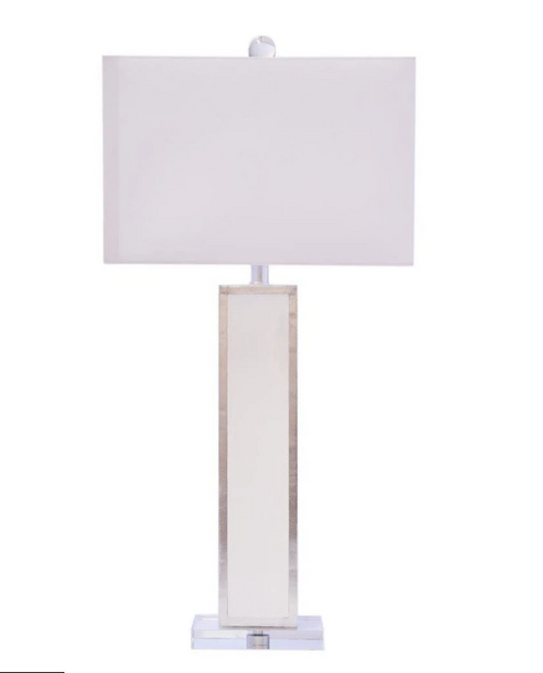 Couture Lighting  Blair Lamp - White with Silver
