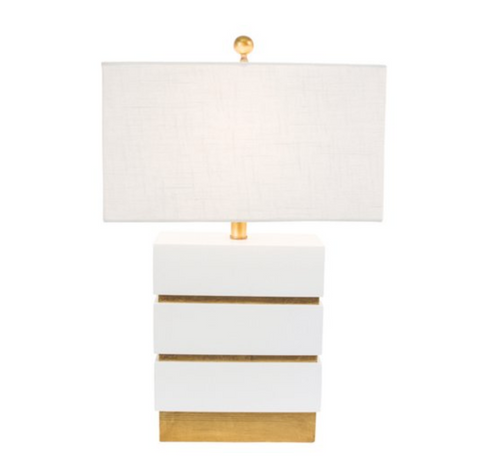 San Simeon Table Lamp in Gloss White by Couture Lamps