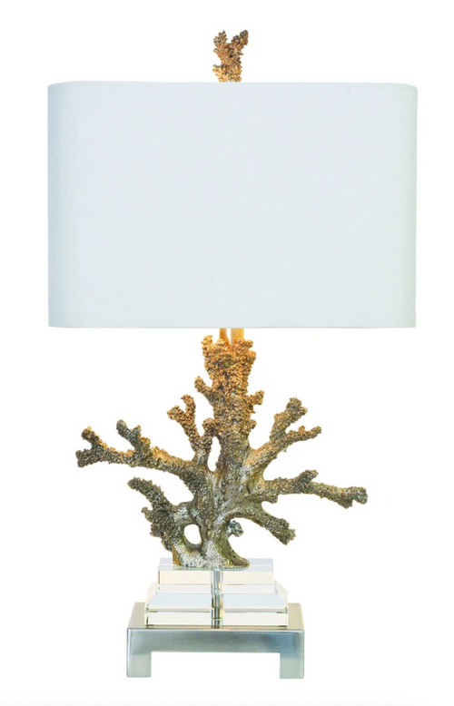 Silver Coral Table Lamp by Couture Lamps