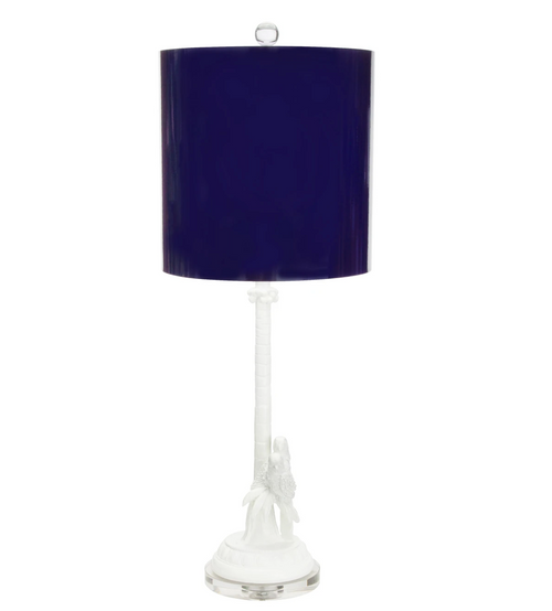 Couture Lighting Parrot + Palm Table Lamp - Indigo