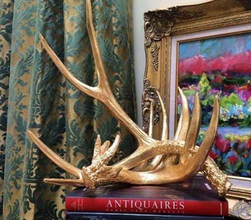 Golden Antlers, Set of 2 by Couture Lighting