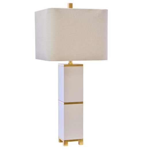 Jacques Table Lamp in White and Gold by Couture