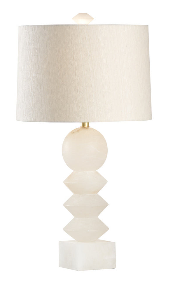 Ziegfeld White Alabaster Lamp by Wildwood