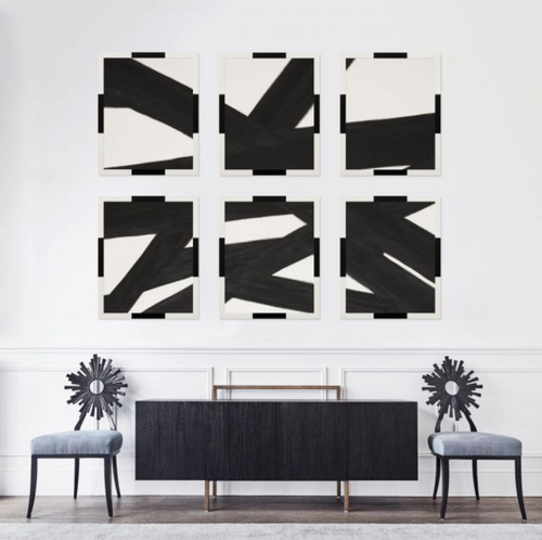 Natural Curiosities Black Lines Abstract Art