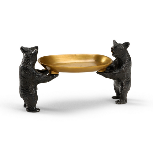 Bears Bearing Dish in Brass by Wildwood Lighting