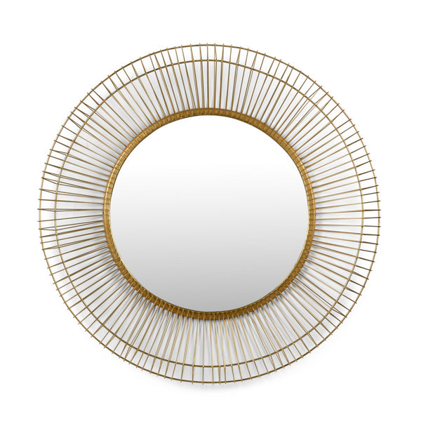 Lorna Round Brass Mirror by Wildwood
