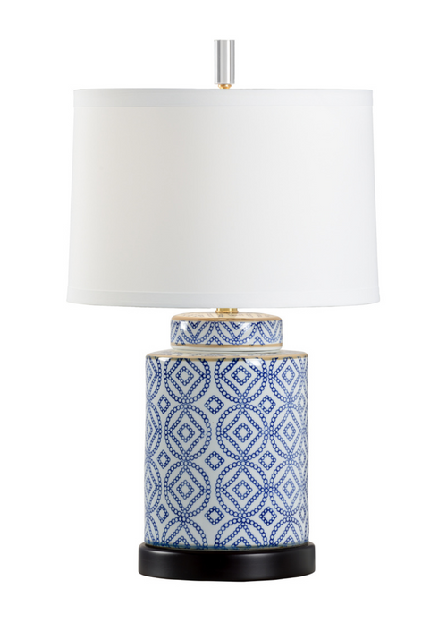 Eleanor Table Lamp in Blue by Wildwood