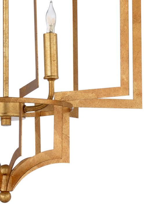 Dover Chandelier in Gold by Wildwood Lighting